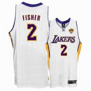 China Los Angeles Lakers 2 Derek Fisher Stitched White 2010 Finals Jersey on sale
