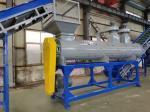 Customized Plastic Waste Washing Plant / Hot Water Washing Machine 500kg/H