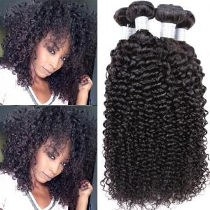 China 100% Human Peruvian Human Hair Weave , Kinky Curly Human Hair Weave Bundles on sale