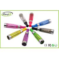 4.2V 1000puffs E Cig Clearomizer Ce4 Atomizer Tank Long Wick , Flat / Round Colorful Drip Tip