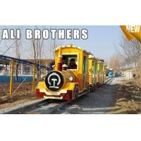 China Outdoor Amusement Equipment Tourist Electric Train Games New Design Track And Trackless Train on sale