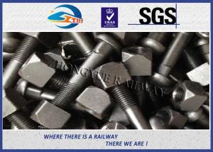 China Zinc / HDG Diamond Neck Railway Bolt Rail Track Fish Bolt ASTMA / ASCE on sale