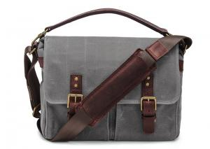 China Outdoor Canvas Crossbody Messenger Bag Grey , Casual Messenger Bags With Pockets on sale