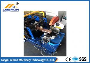 China Blue And Yellow Downspout Roll Forming Machine , Metal Down Pipe Machine Long Service on sale