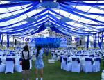 Luxury frame marquee tent, outdoor aluminum frame tent with pvc fabric cover