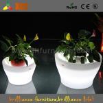 Big Remote Control Battery LED Plant Pots 16 Colors Change For Party