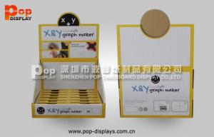 China OEM PDQ Corrugated Counter Display Point Of Sale With Square Holes Pop Design on sale