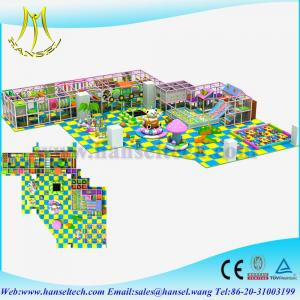 China Hansel Kids Attractions Indoor Play Centers Commercial Playground Equipment on sale