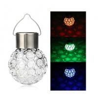 7 Colors Solar Glass Globe Pendant Light 4500K - 5200K For Garden / Patio