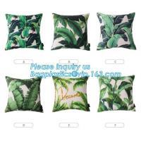 Tropical leaf latest design digital printing cushion cover wholesale decorative pillow covers,Latest design custom print