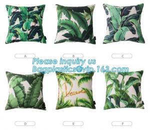 China Tropical leaf latest design digital printing cushion cover wholesale decorative pillow covers,Latest design custom print on sale