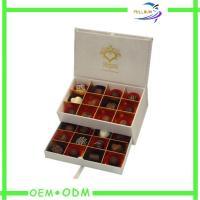 China Regalos personalizados cuadrado con el parte movible de papel, cajas del chocolate de regalo para los chocolates on sale
