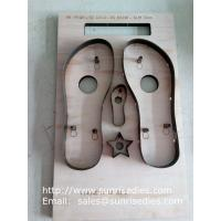Slipper sole steel cutting dies, slipper sole plywood steel rule dies factory China