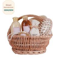 Organic Bath Gift Baskets With Shower Gel Body Lotion Bath Salt Body Butter Soap