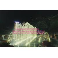 China Program Control Water Fountain Project , Dry Fountains / Floor Multicolored LED Fountain on sale