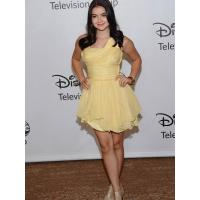 One Shoulder Yellow Chiffon Short Celebrities Evening Dresses , Party Prom Gowns
