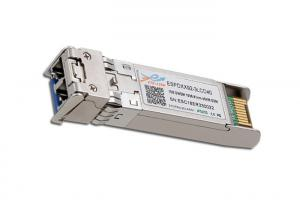 China Lightweight 10G SFP+ Module DWDM 100GHZ ITU Grid C Band 40km Duplex LC on sale