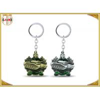 China Die Casting 3D Brass Vintage Metal Key Ring Pear Finishing For Promotion With Laser Logo on sale
