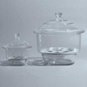 China Desiccator with Porcelain Plate Clear Glass Laboratory Drying Equipment Shenzhen supplies on sale