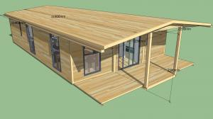 China Hard Hard Flat Pack Container House , Steel Structure Low Cost Prefabricated Homes on sale