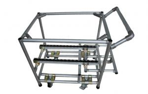 China Adjustable Aluminum Assemble Steel Pipe Storage Rack Hand Truck Trolley ODM / OEM on sale