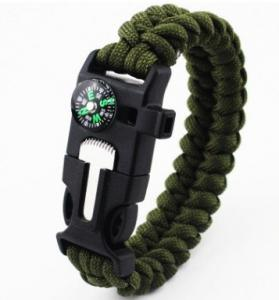 China Fire Starter Outdoor Survival Paracord Bracelet with Over 300 Colors for Choice on sale