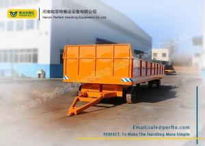 China Orange Heavy Duty Plant Trailer Customized Load Capacity For Cargo Shipment on sale