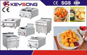 China Electric / Gas  Restaurant Kitchen Equipment Double Tank Electric Air Deep Fryer on sale