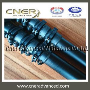 China High stiffness 30 feet carbon fiber telescopic pole, telescoping pole on sale