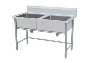 ... Quality Kitchen Double Bowl Industrial Stainless Steel Sinks For  Restaurant / Hotel For Sale ...