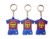 China Silicone Milan Football Shirt Key Chain promotion item sevenstargifts KT110 on sale