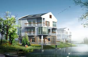 China Villa Luxury Prefab Houses Light Steel Structure Sandwich Panel Board Wall on sale