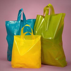 China Solid Color Custom Logo Reusable Shopping Bags , Compostable Shop Carrier Bags on sale