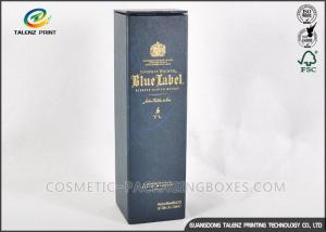 China Customized Dark Paper Wine Box Logo Printed Rectangle Shaped With Long Lifetime on sale