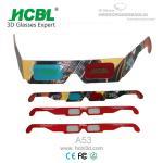 3D 劇場のためのフル カラーのロゴの注文のペーパー アナグリフ 3D ガラス