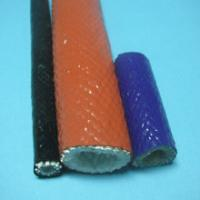 China High Temperature Fiberglass Sleeving , Silicone Cable Sleeve on sale