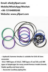 Ramfo TF01 TF05 TF14 TF25 seal kits hydraulic rock breaker hammer