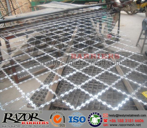 75X150 diamond razor mesh fence