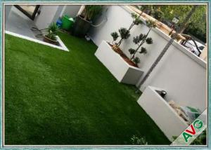 China SGS Landscaping Artificial Grass Carpet Roll With Monofil PE / Curly PPE Material on sale