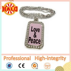 China Customized LED dog tag necklace for kids with your own design on sale