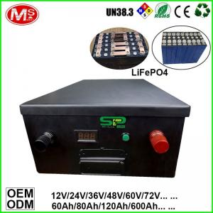 China OEM 240Ah 24v Lithium Battery Pack / LifePo4 Polymer Battery Long Cycle Life on sale