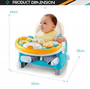 China 3 in 1 portable dining feeding baby table chair with music light on sale