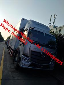 China 2019s new design FOTON AUMARK Euro 5 cold room truck, refrigerated van truck for fresh vegetables and fruits for sale on sale
