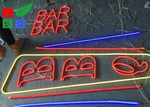 China New Fashion Outdor LED Neon Sign With Hided Stainless Steel Backing For Restaurant Facade Sign on sale