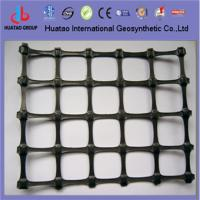 China pvc coated polyester geogrid on sale