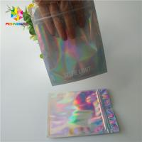Diamond Bright Cosmetic Packaging Bag , 3 Side Seal Pouch  Custom Printing Logo