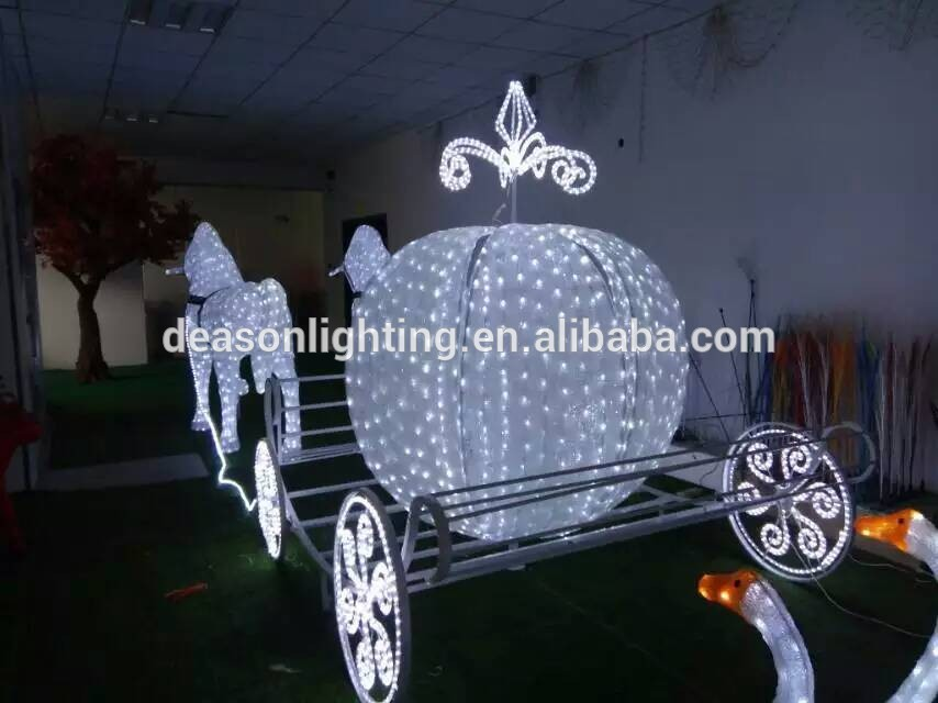 Outdoor Christmas Decorations Horse Carriage : Led outdoor christmas decoration horse carriage for sale