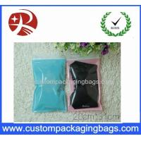 Front Transparent custom zipper pouches pack clothes Back Side PINK Color