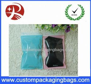 China Front Transparent custom zipper pouches pack clothes Back Side PINK Color on sale
