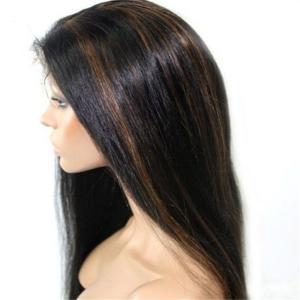 China Factory Price large Stocks Blonde Brazilian Hair Full Lace Wig on sale